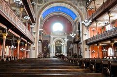 Dentro de la sinagoga de Pecs fotos de archivo