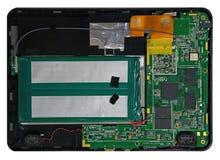 Dentro de la tableta electrónica Foto de archivo libre de regalías