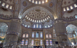 Dentro de mezquita azul Fotos de archivo