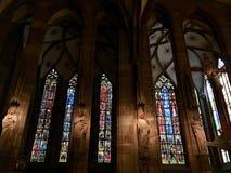 Dentro de Notre-Dame de Strasbourg Imagem de Stock Royalty Free