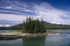 Dentro de paso, Alaska Fotografía de archivo