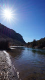 Dentro de Rio Grande Gorge National Park foto de stock royalty free