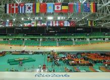 Dentro de Rio Olympic Velodrome situado em Barra Olympic Park em Rio de janeiro imagens de stock royalty free