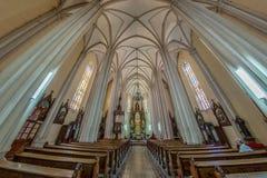 Dentro de St Mary Cathedral, Novi Sad, Sérvia Imagem de Stock