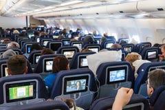 Dentro de um Airbus A330 Fotos de Stock