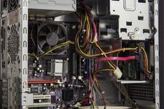 Dentro de um armário do computador de secretária imagens de stock royalty free