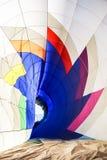 Dentro de um balão de ar quente Imagem de Stock