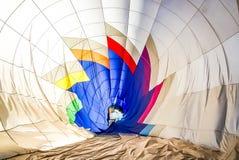 Dentro de um balão de ar quente Fotografia de Stock Royalty Free