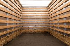 Dentro de um caminhão ou de uma camionete imagens de stock