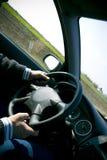 Dentro de um carro Imagem de Stock