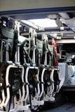 Dentro de um carro do veículo blindado de transporte de pessoal foto de stock