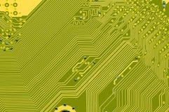 Dentro de um circuito de computador fotografia de stock