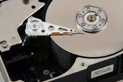 Dentro de um computador Harddrive fotografia de stock