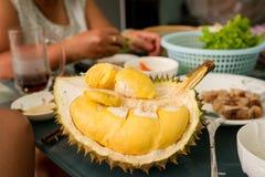 Dentro de um Durian Foto de Stock Royalty Free