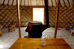 Dentro de um ger, Mongolia Fotos de Stock Royalty Free