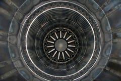 Dentro de um motor de jato fotografia de stock