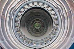 Dentro de um motor de jato fotografia de stock royalty free