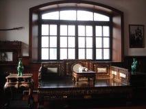 Dentro de um quarto tradicional do estilo chinês Fotografia de Stock