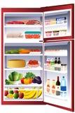Dentro de um refrigerador Imagens de Stock