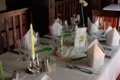 Dentro de um restaurante Fotografia de Stock Royalty Free