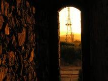 Dentro de um túnel b fotos de stock