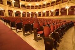 Dentro de um teatro velho Imagem de Stock Royalty Free