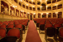 Dentro de um teatro velho Fotografia de Stock Royalty Free