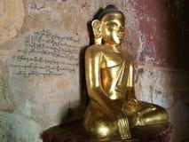 dentro de um templo antigo em Bagan (Burma) Foto de Stock Royalty Free