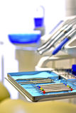 Dentro de uma ambulância do dentista Imagem de Stock