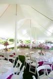 Dentro de uma barraca do casamento Fotos de Stock