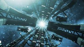 Dentro de uma estação espacial impressionante Imagens de Stock