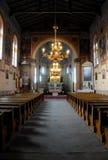 Dentro de uma igreja Fotografia de Stock