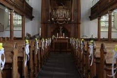 Dentro de uma igreja Imagem de Stock