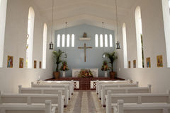 Dentro de uma igreja, Baja Imagens de Stock