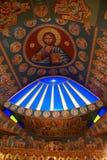 Dentro de uma igreja ortodoxa fotografia de stock