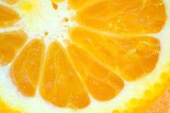 Dentro de uma laranja Fotos de Stock Royalty Free