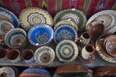 Dentro de uma loja em Horezu Fotografia de Stock Royalty Free