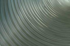 Dentro de uma tubulação de alumínio Foto de Stock Royalty Free