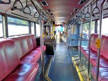 Dentro de un autobús de dos plantas fotos de archivo libres de regalías