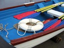 Dentro de un bote salvavidas colorido Imágenes de archivo libres de regalías
