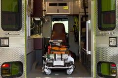 Dentro de un carro del rescate Fotografía de archivo libre de regalías
