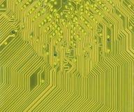 Dentro de un circuito de ordenador Fotos de archivo libres de regalías