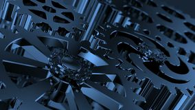 Dentro de un reloj, infinito en el mecanismo del mecanismo Macro del mecanismo del reloj metrajes