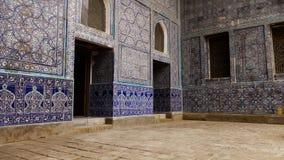 Dentro de un templo asombroso con las paredes tejadas metrajes