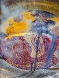 Dentro de una caldera gigante Foto de archivo libre de regalías