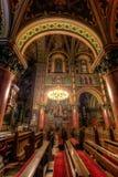 Dentro de una catedral católica Fotos de archivo libres de regalías