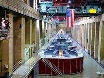 Dentro de una central eléctrica Imágenes de archivo libres de regalías