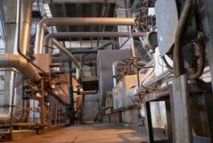 Dentro de una central eléctrica industrial Fotografía de archivo libre de regalías