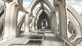 Dentro de una ciudad futura Imágenes de archivo libres de regalías