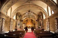 Dentro de una iglesia Foto de archivo libre de regalías